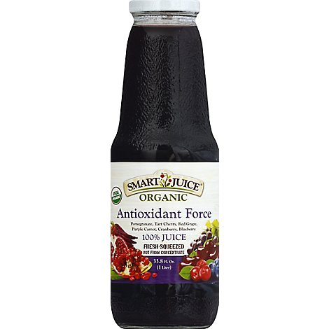 Smart Juice Organic Antioxidant Force - 33.8 Fl. Oz.