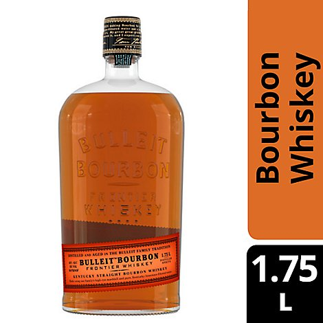 Bulleit Whiskey Kentucky Straight Bourbon 90 Proof - 1.75 Liter