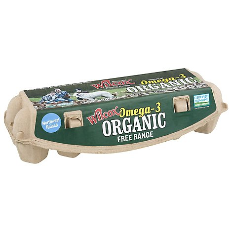 Wilcox Family Farms Organic Eggs Large Omega - 12 Count