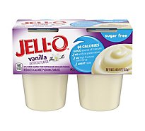 JELL-O Pudding Snacks Sugar Free Vanilla 4 Count - 14.5 Oz