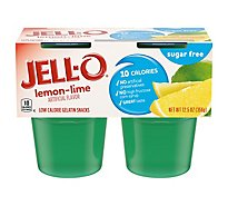 Jell O Gelatin Snacks Low Calorie Sugar Free Lemon-Lime 4 Count - 12.5 Oz