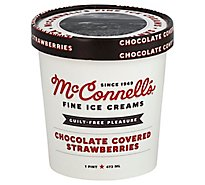 McConnells Ice Cream Chocolate Covered Strawberries - 1 Pint