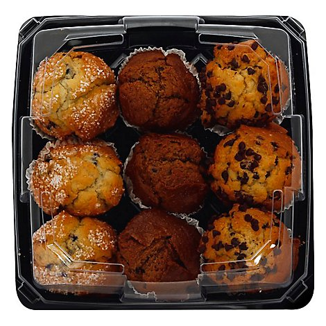 Fresh Baked Muffins Bluebry Chocolate Bran Assorted 9 Count - Each
