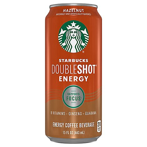Starbucks Doubleshot Coffee Drink Fortified Energy Hazelnut - 15 Fl. Oz.