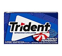 Trident Gum Sugarfree Perfect Peppermint - 18 Count