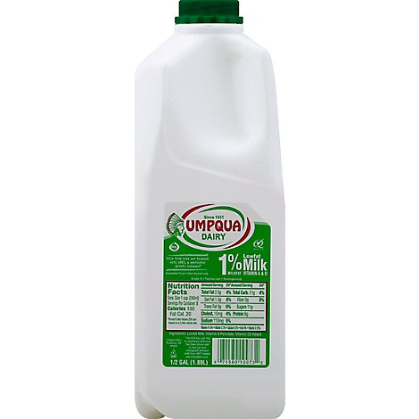Umpqua Milk Lowfat 1% - Half Gallon