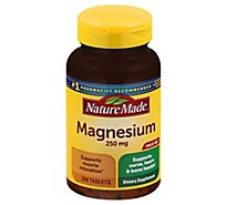 Nature Made Dietary Supplement Tablets Minerals Magnesium 250 mg - 200 Count