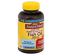 Nature Made 1400mg 1000mg Ultra Omega 3 Vs Fish Oil Liquid Softgels - 90 Count