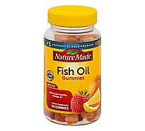 Nature Made Adult Gummies Fish Oil Cherry Lemon & Strawberry - 150 Count