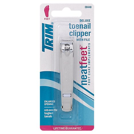 Trim Deluxe Toenail Clipper With File - Each