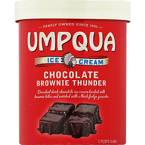 Umpqua Ice Cream Chocolate Brownie Thunder - 1.75 Quart