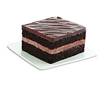 Bakery Cake Dream Factory Sliced Fudge - Each (580 Cal)