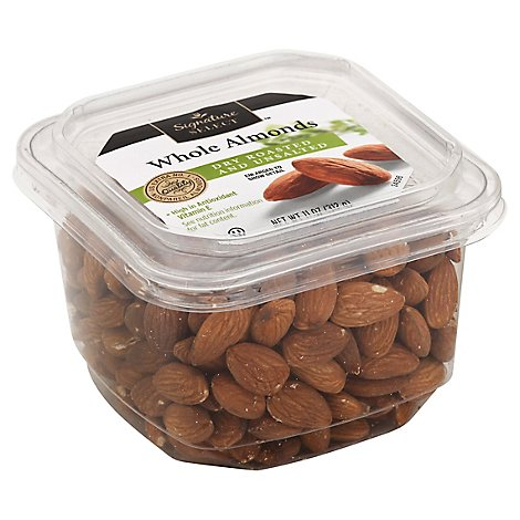 Signature SELECT Nuts Almonds Whole Dry Roasted No Salt - 11 Oz