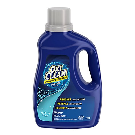 OxiClean Laundry Detergent High Def Clean Sparkling Fresh - 60 Fl. Oz.