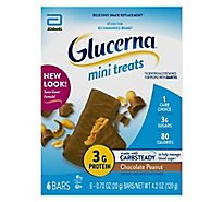 Glucerna Mini Treats Snack Bars Bars - Chocolate Peanut - 6 - 0.7 oz