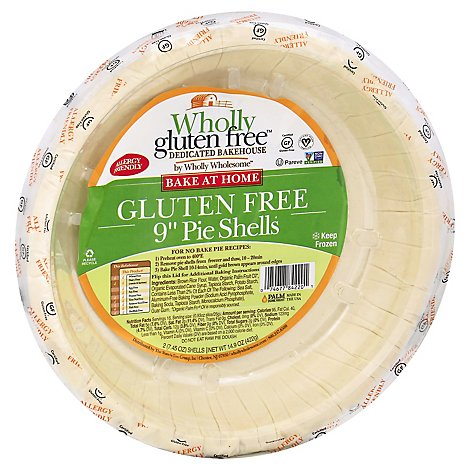 Wholly Wholesome Pie Shells Wholly Gluten Free 9 Inch 2 Count - 14.9 Oz