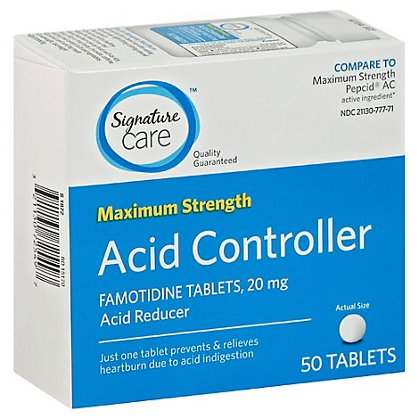 Signature Care Maximum Strength Acid Reducer Famotidine - 50 Count