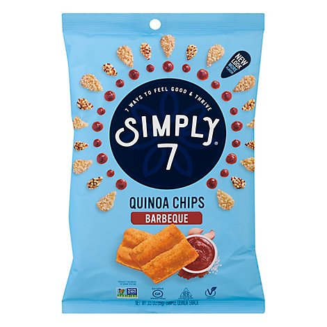 Simply 7 Quinoa Barbeque Chips - 3.5 Oz