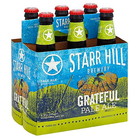Starr Hill Grateful Pale Ale In Bottles - 6-12 Fl. Oz.