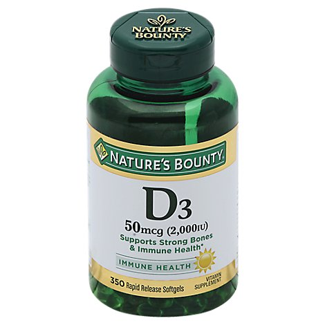 Natures Bounty 2000 Iu Value Size Vitamin D - 350 Count
