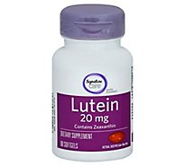 Signature Care Lutein 20mg With Zeaxanthin Dietary Supplement Tablet - 60 Count