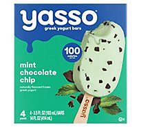 Yasso Frozen Yogurt Greek Bars Mint Chocolate Chip - 4-3.5 Fl. Oz.