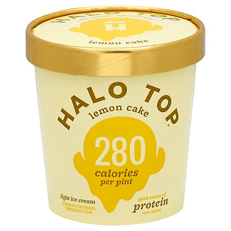 Halo Top Ice Cream Light Lemon Cake - 1 Pint