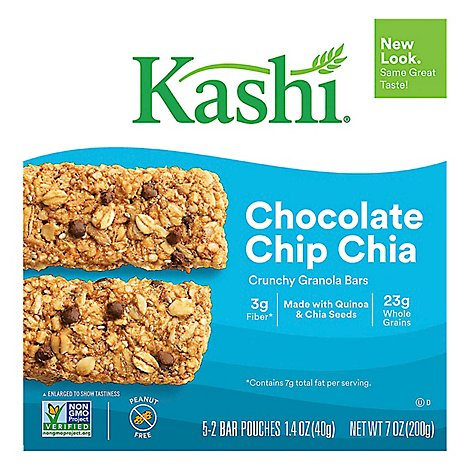 Kashi Crunchy Granola Bars Chocolate Chip Chia 5 Count - 7 Oz