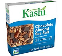 Kashi Chewy Granola Bars Chocolate Almond Sea Salt 6 Count - 7.4 Oz