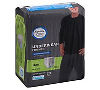 Signature Care Underwear For Men Maximum Absorbency S/M - 20 Count
