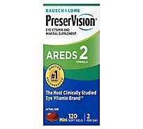 PreserVision Eye Vitamin & Mineral Supplement Soft Gels AREDS 2 Formula - 120 Count