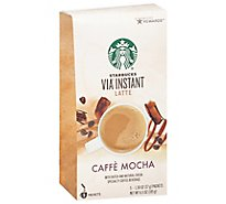 Starbucks VIA Instant Coffee Latte Caffe Mocha Packets - 5-1.3 Oz
