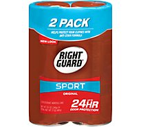 Right Guard Sport Deodorant Aeronsol Original Cans - 2-8.5 Oz