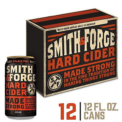 Smith & Forge Hard Cider Cans 6% ABV - 12-12 Fl. Oz.