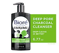 Biore Deep Pore Charcoal Cleanser - 6.77 Fl. Oz.