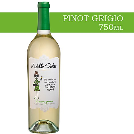 Middle Sister Drama Queen Pinot Grigio Wine - 750 Ml