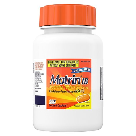 Motrin Pain Reliever Fever Reducer Ibuprofen Tablets Usp 200 Mg - 225 Count