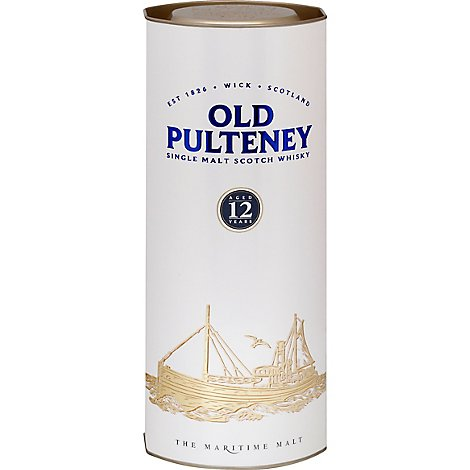 Old Pulteney Scotch Single Malt 12yo 86 Proof - 750 Ml