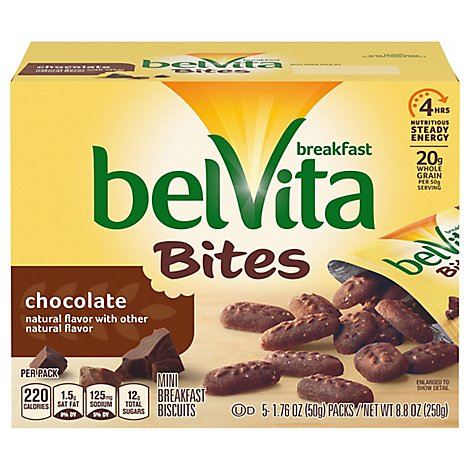 belVita Bites Breakfast Biscuits Mini Chocolate - 5-1.76 Oz