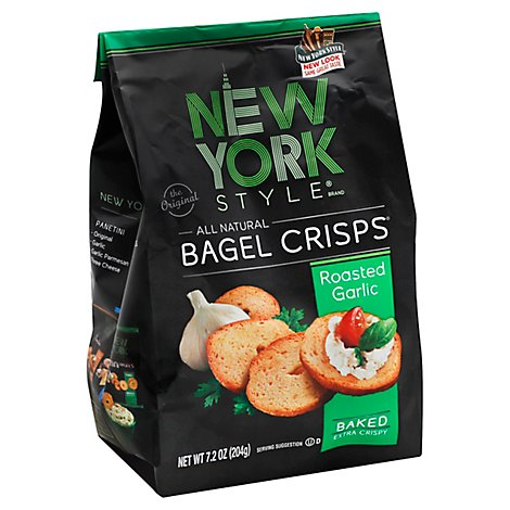 New York Style Roasted Garlic Bagel Crisps - 7.2 Oz
