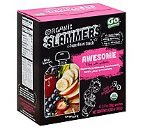Go Gourmet Slammers Organic Superfood Snack Awesome Pouches - 4-3.17 Oz