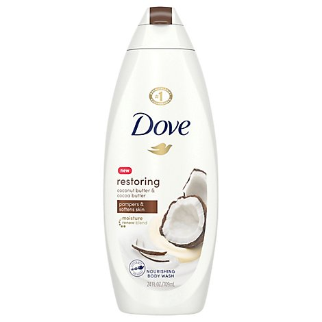 Dove Purely Pampering Body Wash Nourishing Coconut Milk With Jasmine Petals - 22 Fl. Oz.