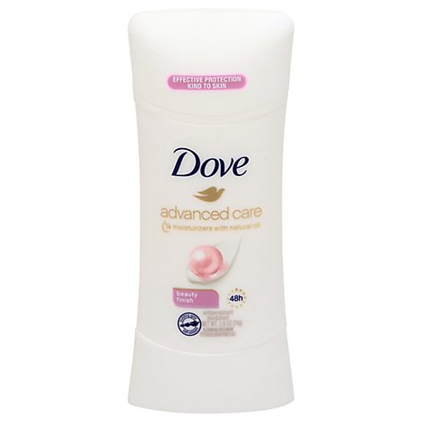 Dove Advanced Care Antiperspirant Deodorant Stick 48h Beauty Finish - 2.6 Oz