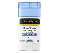 Neutrogena Ultra Sheer Sunscreen Face & Body Stick Spf 70 - 1.5 Oz
