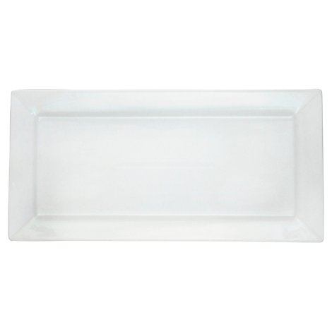Bia White Rectangle Platter 14.5 Inch X 7 Inch - Each