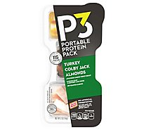 P3 Portable Protein Pack Turkey Almonds Colby Jack - 2 Oz