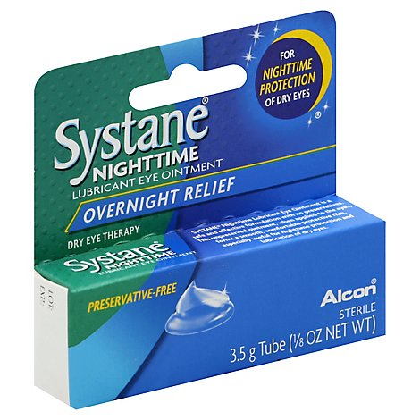 Systane Eye Ointment Lubricant Overnight Relief - 0.125 Oz