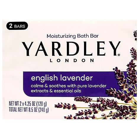 Yardley London Bath Bar English Lavender - 2-4.25 Oz