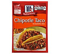 McCormick Seasoning Mix Taco Chipotle - 0.87 Oz