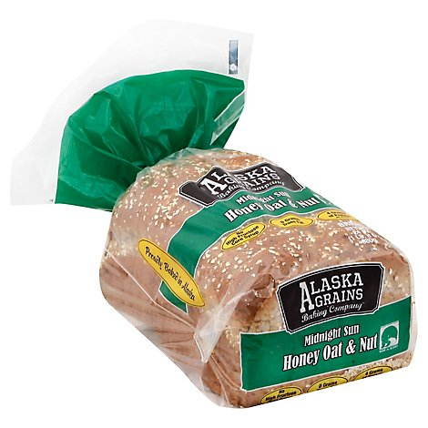 Alaska Grains Baking Co Bread Honey Oat & Nut - 24 Oz